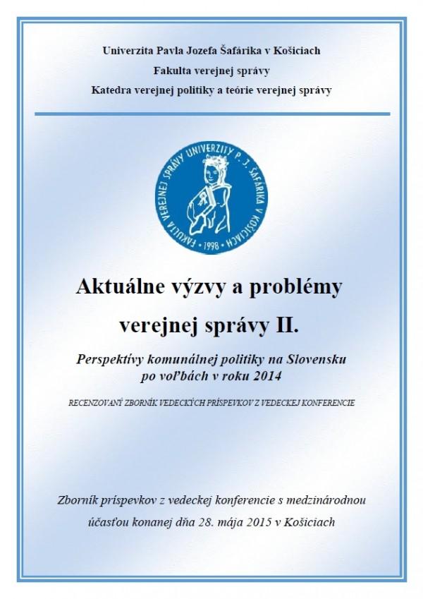 Aktuálne výzvy a problémy verejnej správy II.