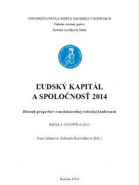 Ľudský kapitál a spoločnosť 2014