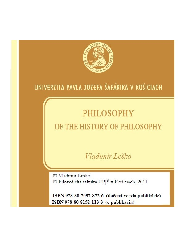 Philosophy of the history of philosophy