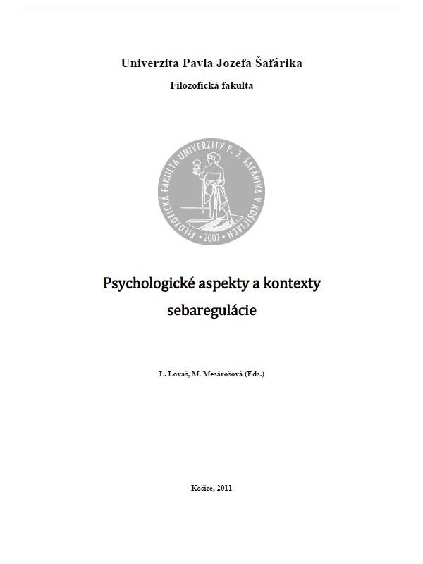 Psychologické aspekty a kontexty sebaregulácie