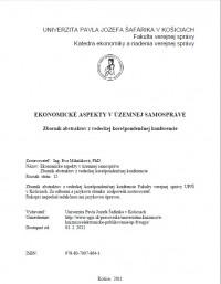 Ekonomické aspekty v územnej samospráve - Zborník abstraktov