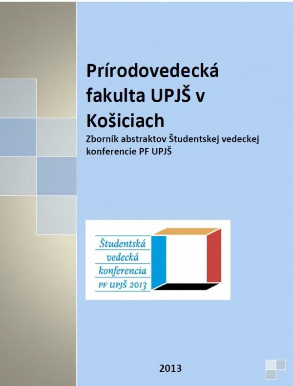 Študentská vedecká konferencia PF UPJŠ 2013