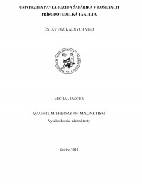 Qauntum theory of magnetism
