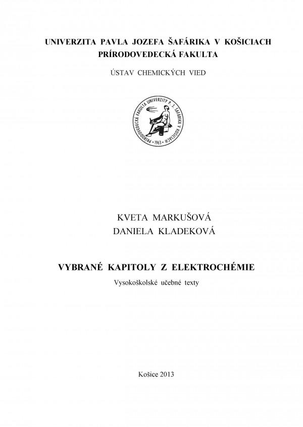 Vybrané kapitoly z elektrochémie