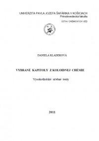 Vybrané kapitoly z koloidnej chémie