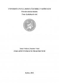 Základné fyzikálne praktikum III.