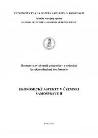 Ekonomické aspekty v územnej samospráve II