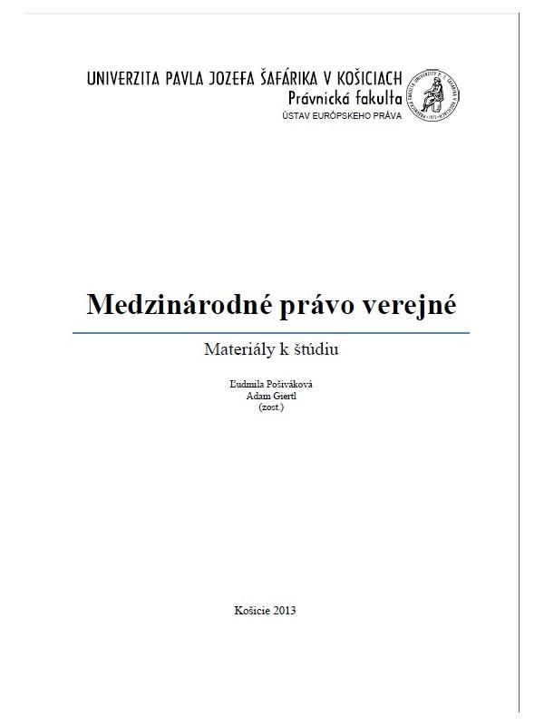 Medzinárodné právo verejné (Materiály k štúdiu)