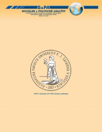 Sociálne a politické analýzy 1-2007