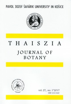 Thaiszia - Journal of Botany, vol.27, no 1*2017