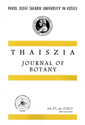 Thaiszia - Journal of Botany, vol.27, no 2*2017