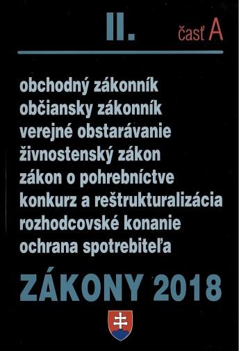 Zákony 2018 II. časť A