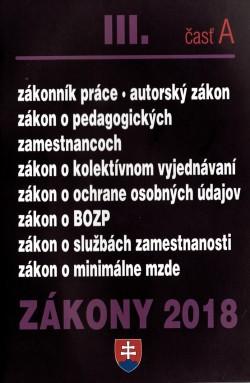 Zákony 2018 lll. časť A