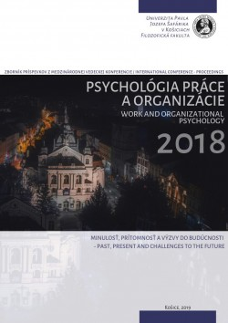 Work and organiuational 2018 - Past, present and chalenges to the future
