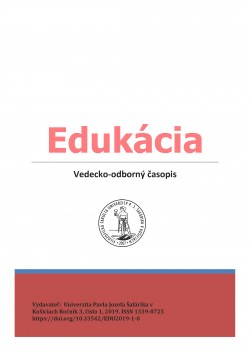 Edukácia, roč, 2, č. 1/2017