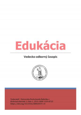 Edukácia, roč. 2, č. 1/2017