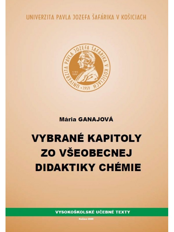 Vybrané kapitoly zo všeobecnej didaktiky chémia