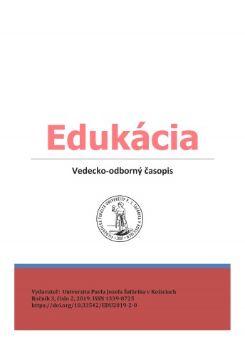 Edukácia, roč. 3, č. 1/2019