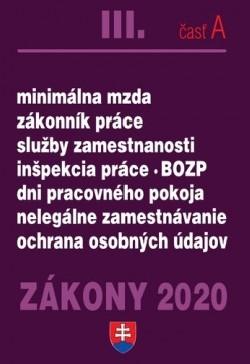 Zákony 2020 III.časť A