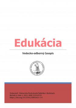 Edukácia, roč. 4, č. 1/2021