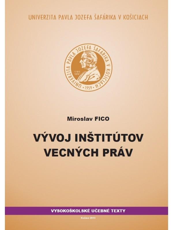 Vývoj inštitútov vecných práv