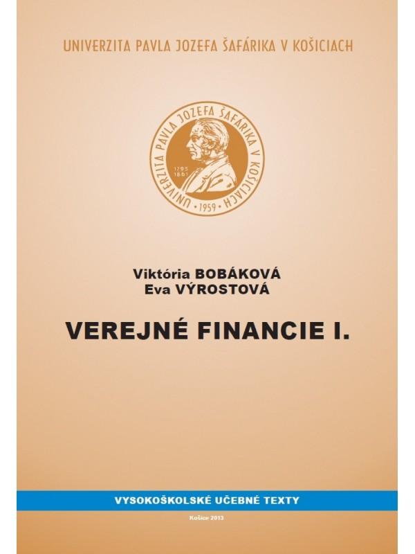 Verejné financie I.