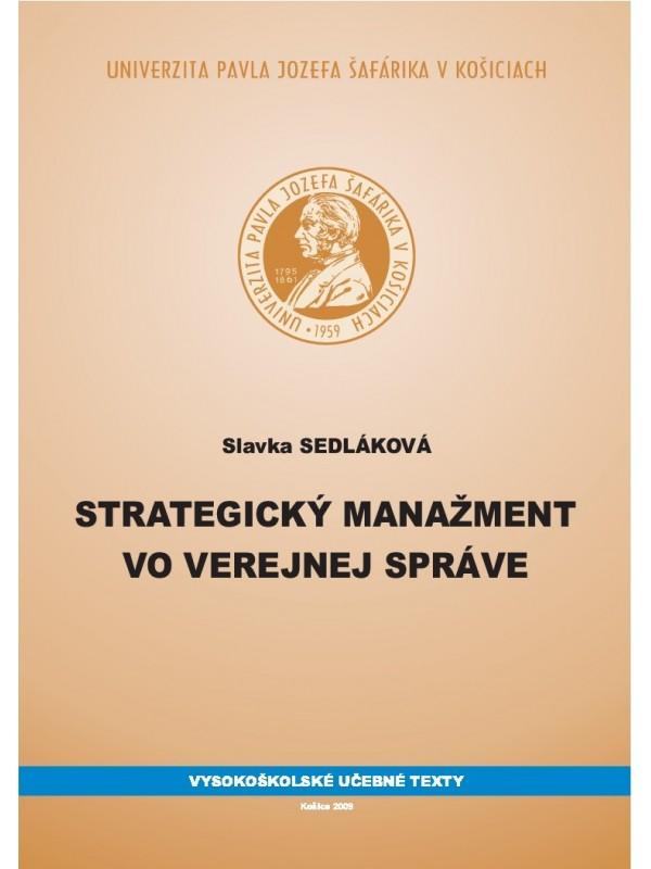 Strategický manažment vo verejnej správe