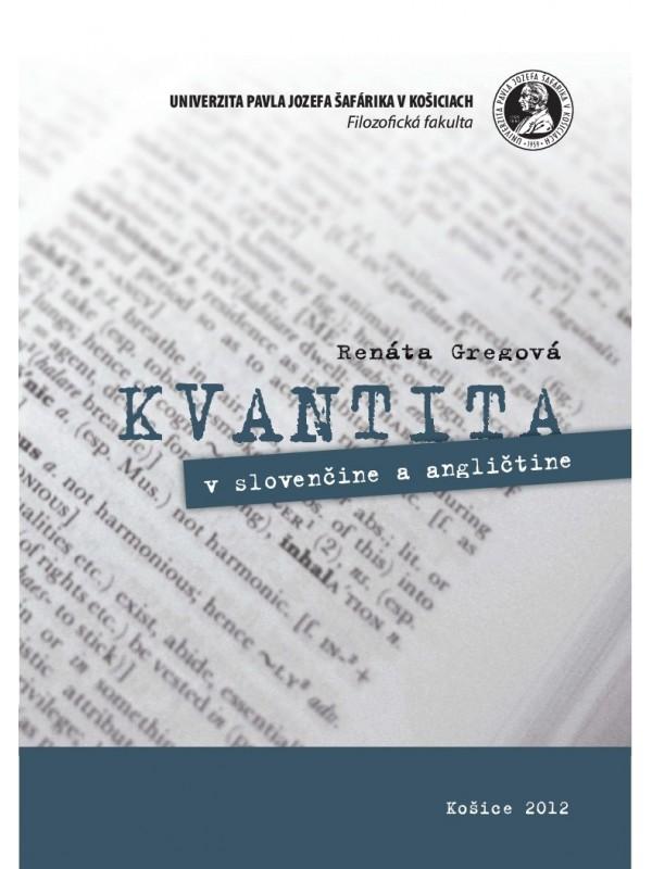 Kvantita v slovenčine a angličtine
