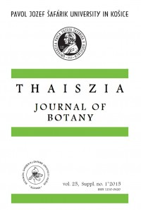 THAISZIA - Journal of Botany, vol. 25, Suppl. no.1*2015