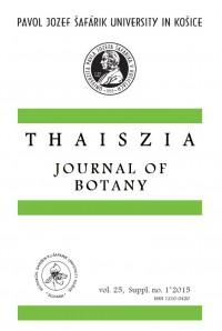 THAISZIA - Journal of Botany, vol. 25, Suppl. no.1*2015