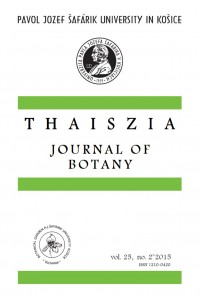 Thaiszia - Journal of Botany, vol.25, NO. 2*2015