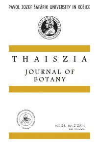 Thaiszia - Journal of Botany,vol. 24, NO. 2*2014