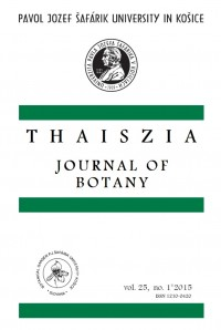 Thaiszia - Journal of Botany, vol. 25, NO. 1*2015