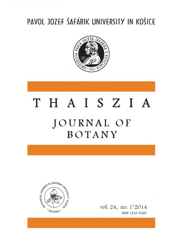 Thaiszia - Journal of Botany, vol. 24, NO. 1*2014
