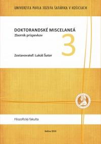 Doktorandské Miscelaneá 3