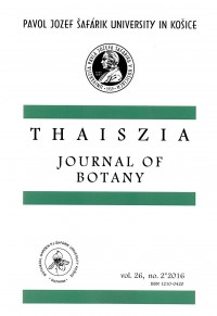 Thaiszia 2/2016, Journal of Botany
