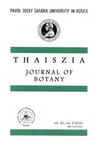 Thaiszia 2/2016,Journal of Botany