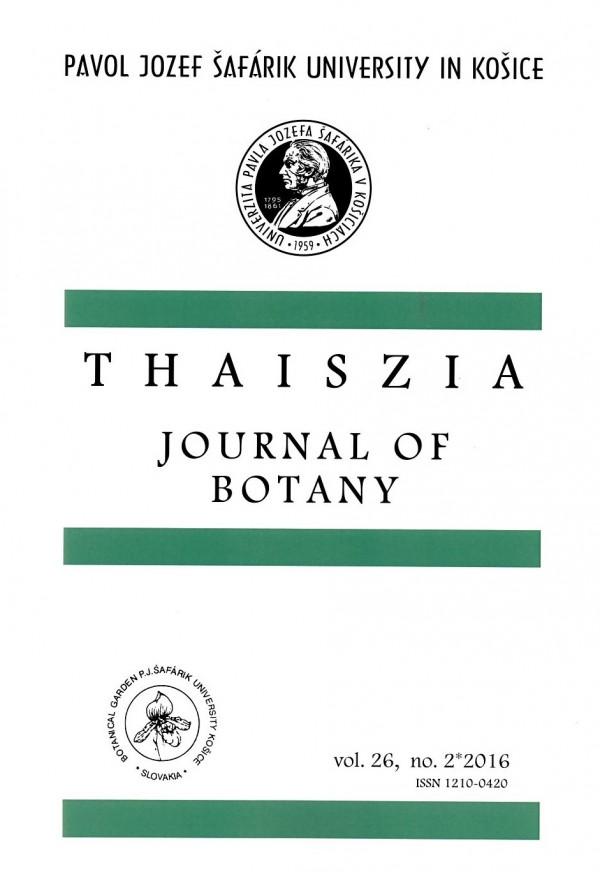 Thaiszia 2/2016, Journal of Botany