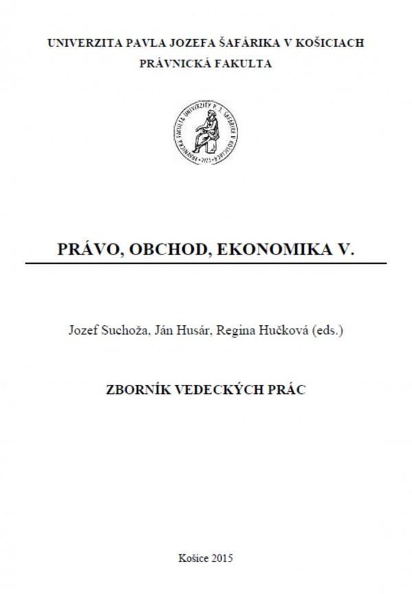 Právo - obchod - ekonomika V.