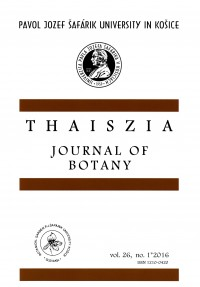 Thaiszia - Journal of Botany vol26, no. 1*2016
